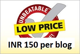 INR 150 per blog