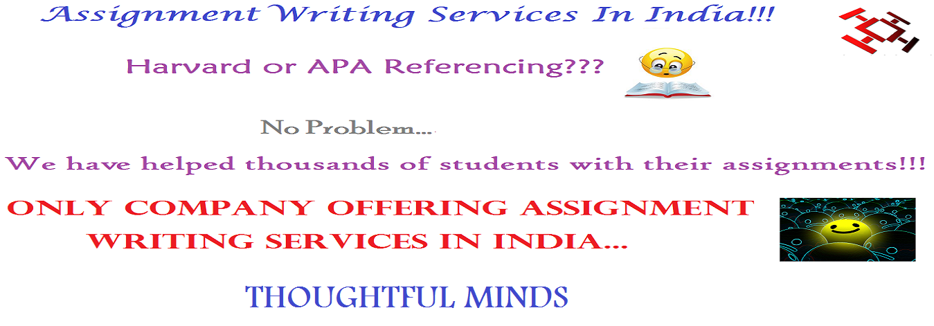 assignment writing services in India-Thoughtfulminds