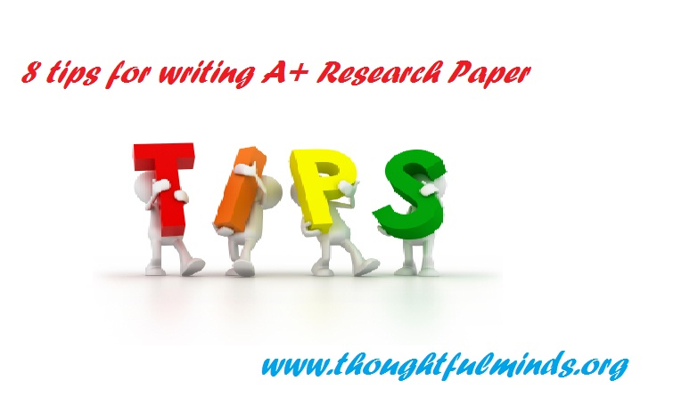tips on writing a research paper