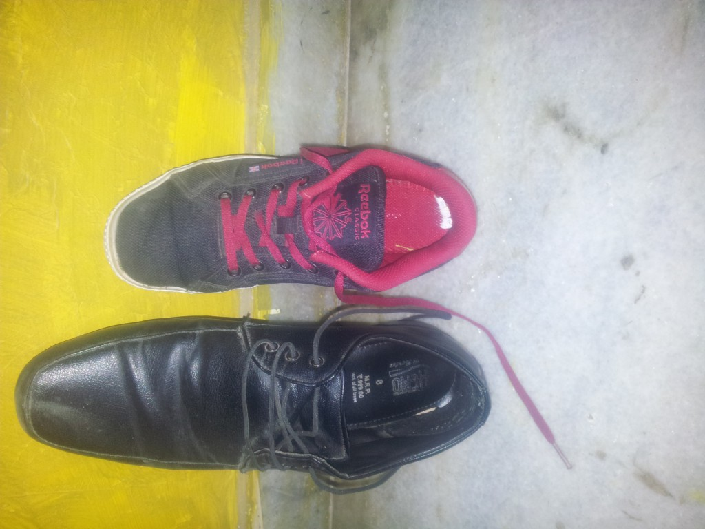 Bata with price and Reebok with Logo