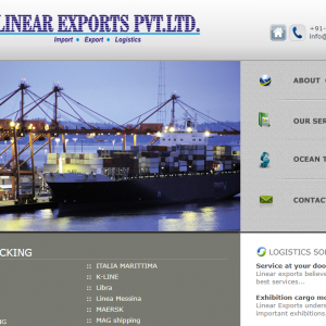 Linear Exports- Logistic Website Development | Thoughtful Minds