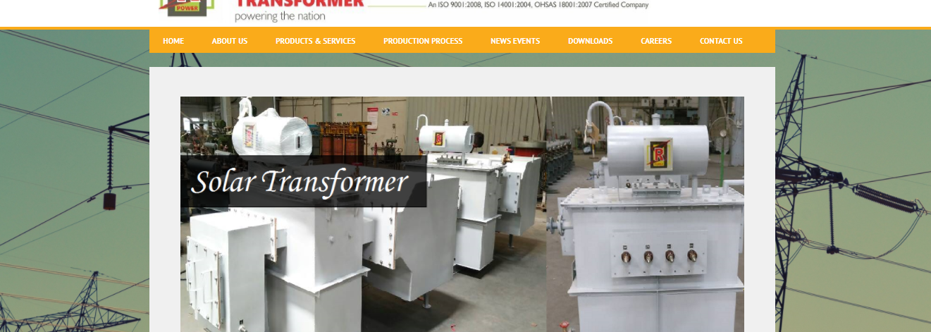 RP-Transformer industry website development-products page-Thoughtfulminds