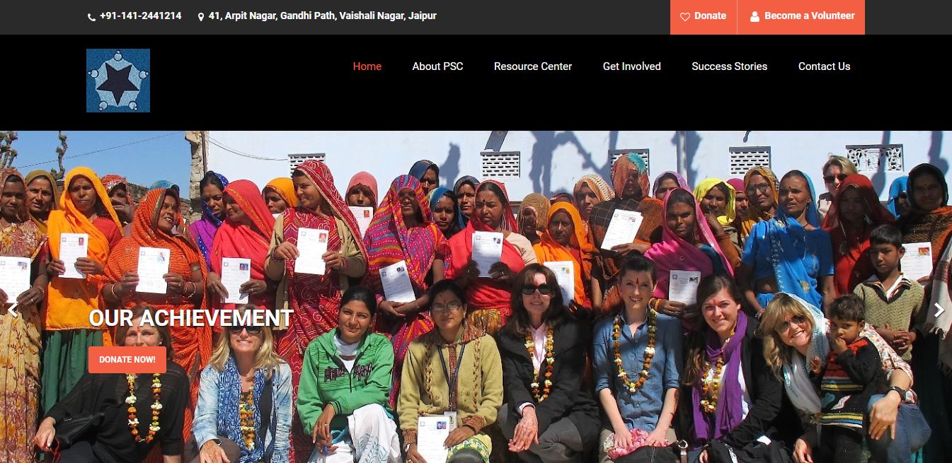 PSCIndia-Website development-Thoughtfulminds