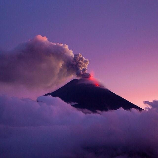 sunset at Baños, Ecuador