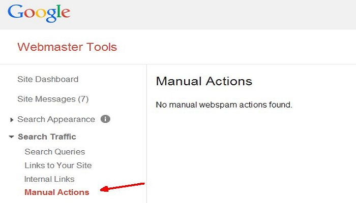 Google webmaster tools manual actions-ThoughtfulMinds