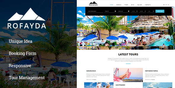 tours and travel website template