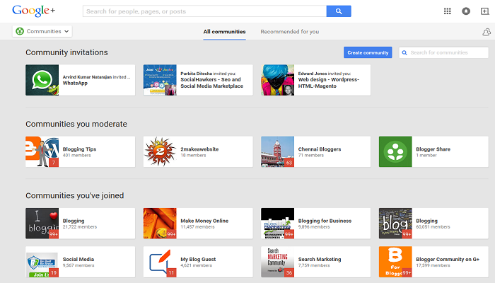 Google Communities- ThoughtfulMinds