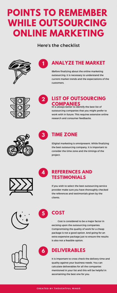 Points to Remember while Outsourcing online Marketing