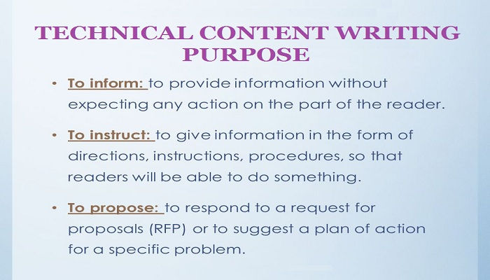 Purpose of technical writing-ThoughtfulMinds