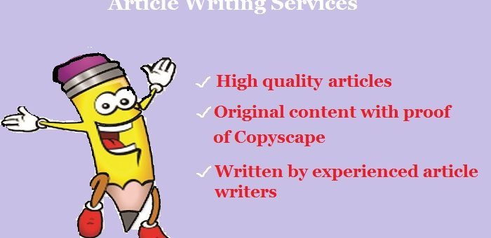 Leading Article Writing Services From Expert Article Writers In India