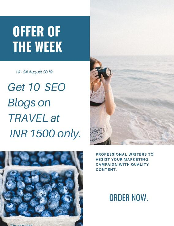 Travel Blog discount