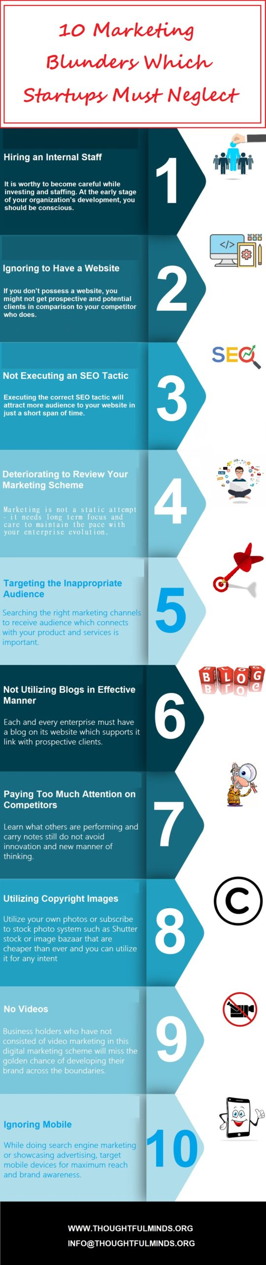 10 Marketing Mistakes Which Startups Must Neglect Infographic - ThoughtfulMinds