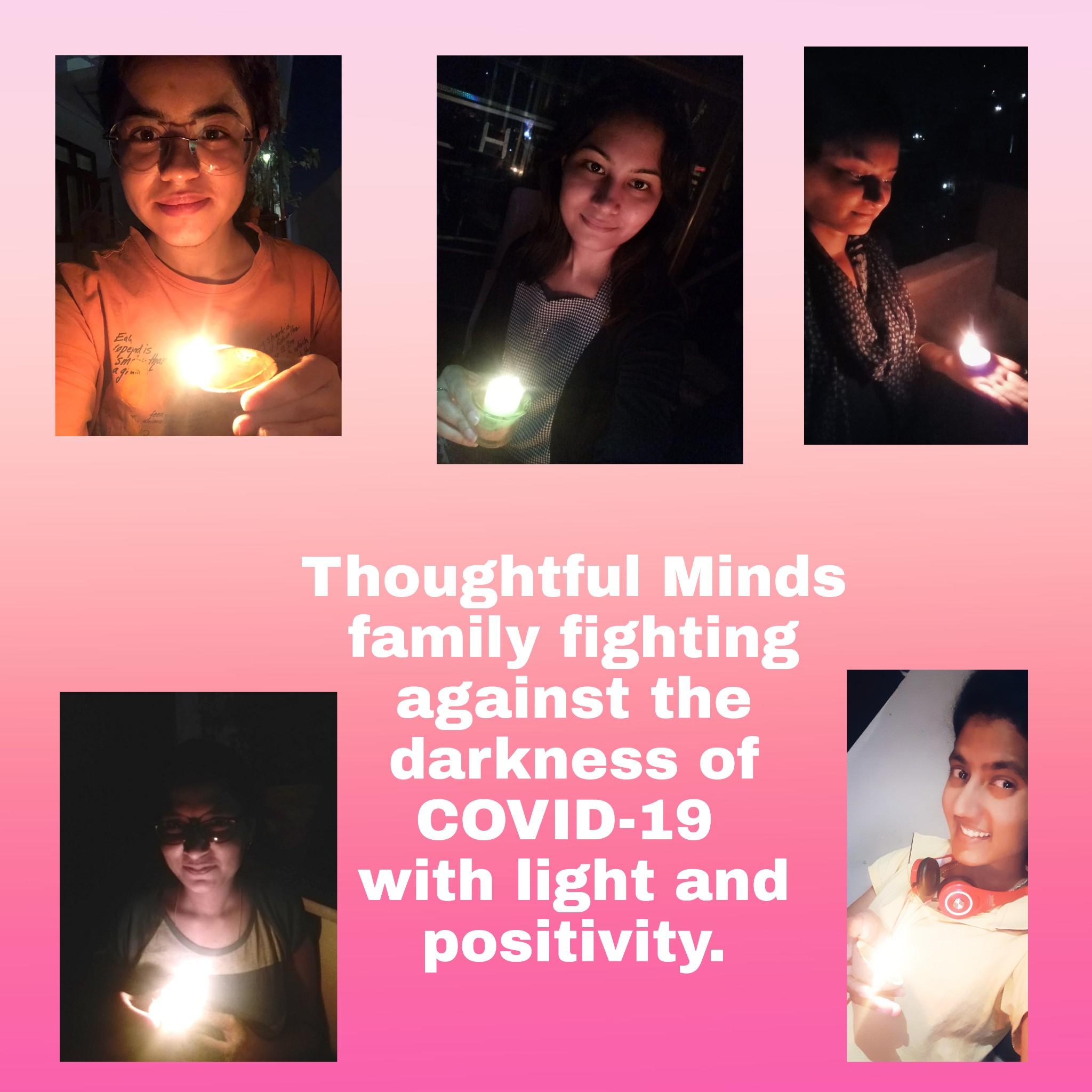 Modi's 9 min 9pm candle light